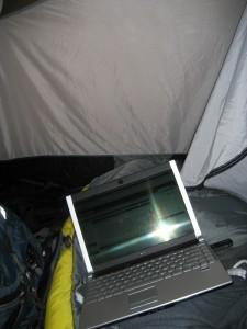 Dell M1330 in a Tent